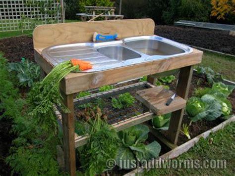 Garden Sink Ideas Garden Sink Bench Justaddworms Garden Gardening
