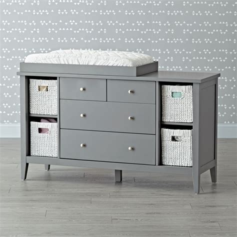 grey baby changing table baby changing tables the land of nod