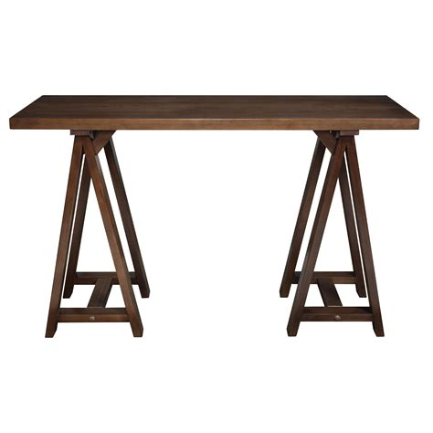 amazon com simpli home artisan console sofa table medium amazon com simpli home sawhorse console sofa table