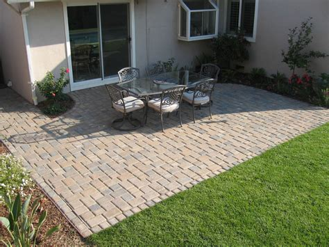 Paver Ideas For Patio Brick Paver Patio Designs