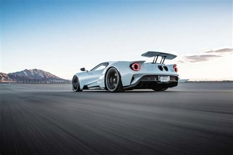 Car Back View Wallpaper by Wallpaper Ford Gt Back View Supercar Cars Spoiler