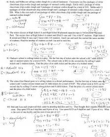 worksheets systems of equations word problems worksheets