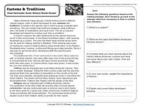 customs and traditions 5th grade reading comprehension