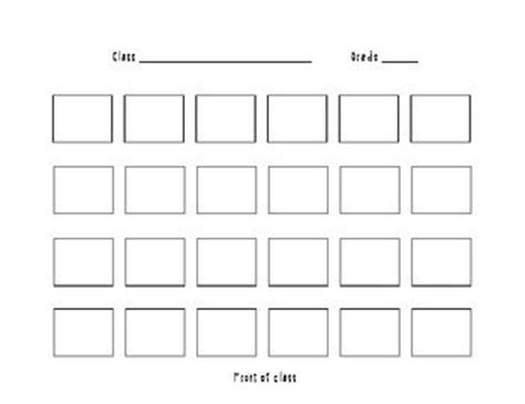 seating chart template freebie music classroom pinterest
