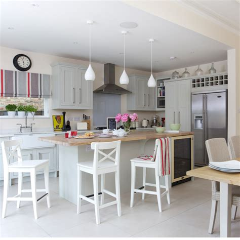 kitchen decorating ideas uk grey shaker kitchen diner ideal home
