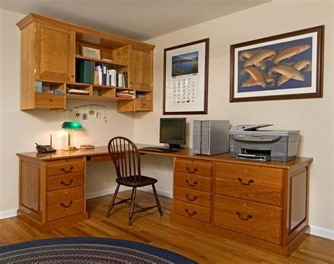 handmade custom home office desk and cabinet by