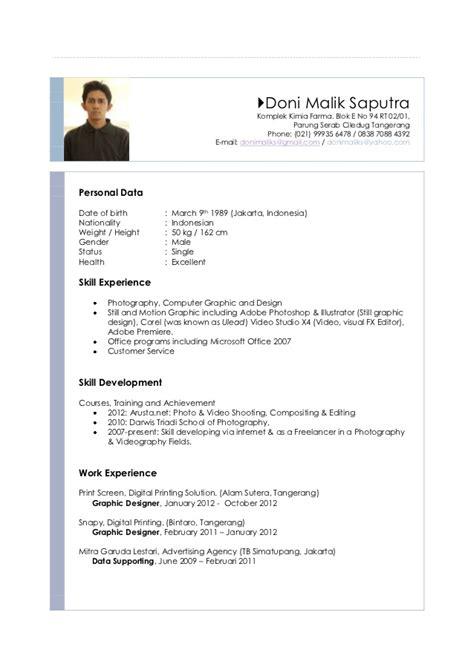 Doni malik saputra resume