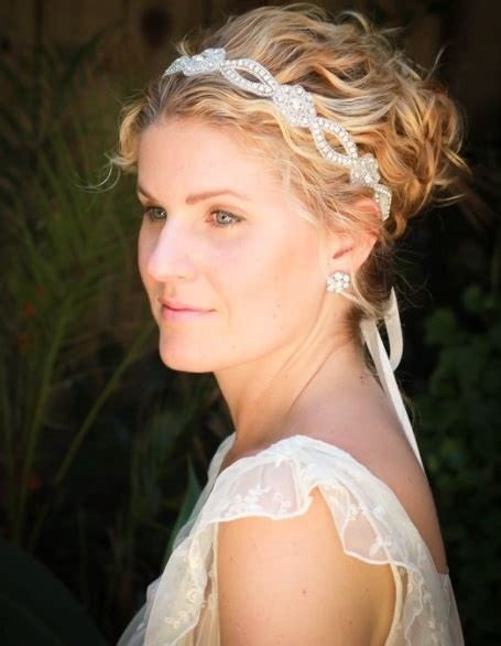 hairstyles with jeweled headband 20 mesmerizing wedding hairstyles for short hair