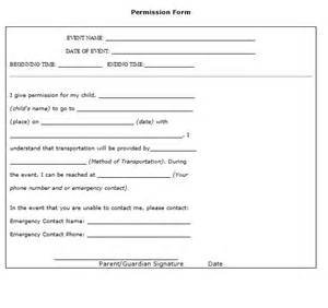 permission form template 35 permission slip templates field trip forms