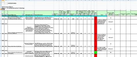 internal controls template snapshots