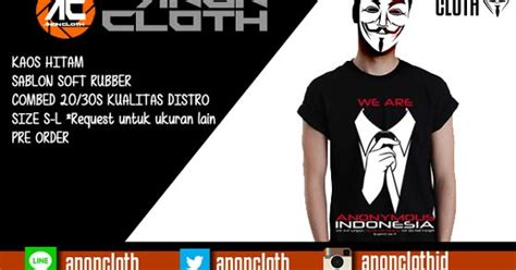 Kaos Anonymous 02 anon cloth jual kaos anonymous indonesia