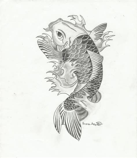 koi fish drawings drawing pencil