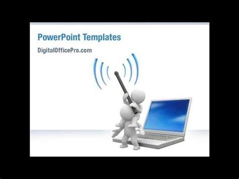 Wireless Communication Powerpoint Template Backgrounds Digitalofficepro 03093 Youtube Powerpoint Templates For Communication Presentation
