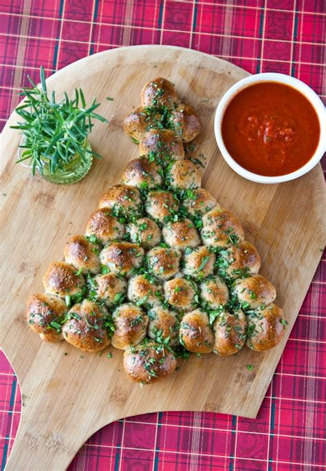 christmas tree snack by pilsbury cheese stuffed tree pull apart bread with marinara this simple to make pull apart