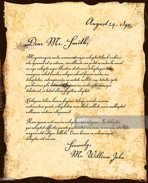 fashioned letter correspondence design template high