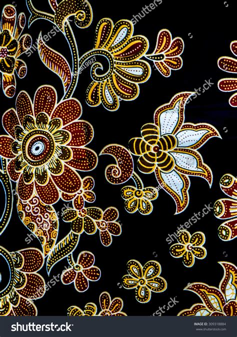 design batik flora royalty free batik flora pattern design 309318884 stock