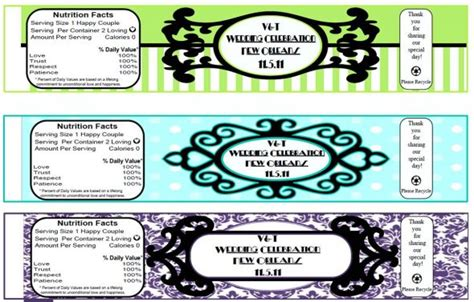 Diy Waterbottle Labels Weddingbee Photo Gallery Diy Water Bottle Label Template