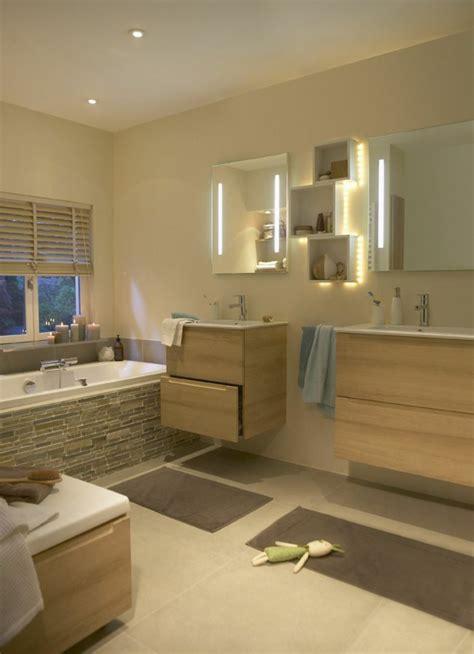 meubles salle de bain bois clair images