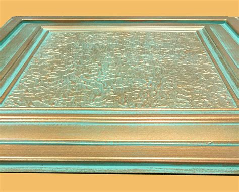 copper ceiling tiles 24 quot x24 quot zeta antique copper patina pvc 20mil ceiling tiles antique ceilings glue up ceiling