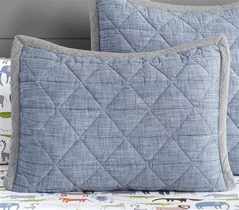 Chambray Quilt by Theo Chambray Quilted Bedding Pottery Barn