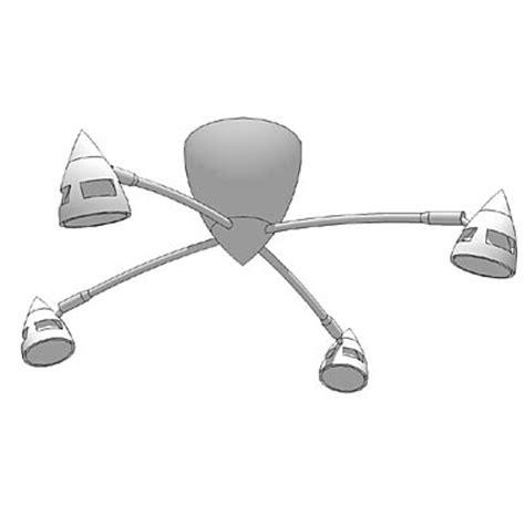 ikea 4 spot ceiling light 3d model formfonts 3d models