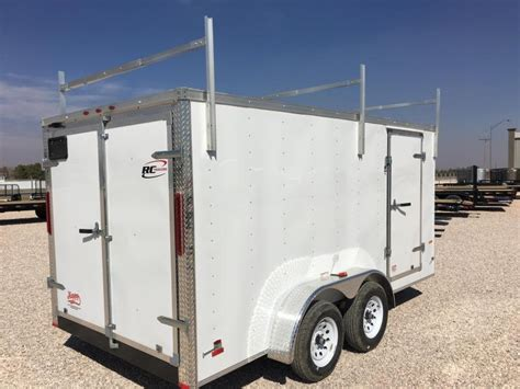 Cargo Trailer Roof Rack by 2017 Rc 7 X14 Enclosed Cargo Trailer W Roof Rack Happy Trailer Sales Pj Trailers In
