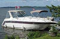 boat upholstery kawarthas 1989 regal 320 commodore for sale in the lindsay area