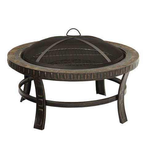 pleasant hearth 30 inch slate top wood burning outdoor