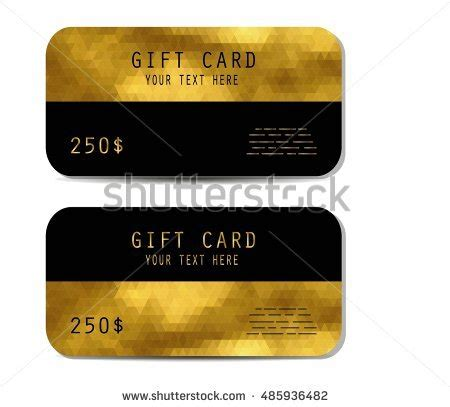 Gold Gift Card Template by Clean Blak Bankcard Sle On White Stock Vector 98212886