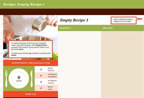 Recipe Template   Recipe Book Template