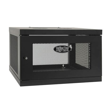 6u wall mount cabinet tripp lite smartrack 6u low profile switch depth knock wall mount rack enclosure cabinet