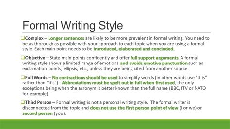 Formal Essay Sle deciding how to write informal and formal writing styles