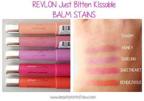 Lipstik Revlon Balm Stain revlon just bitten kissable balm stain swatches www beautypointofview point of view