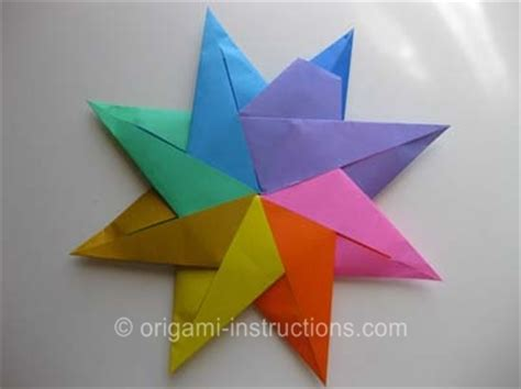 Origami Eight Pointed - origami modular 8 pointed origami for