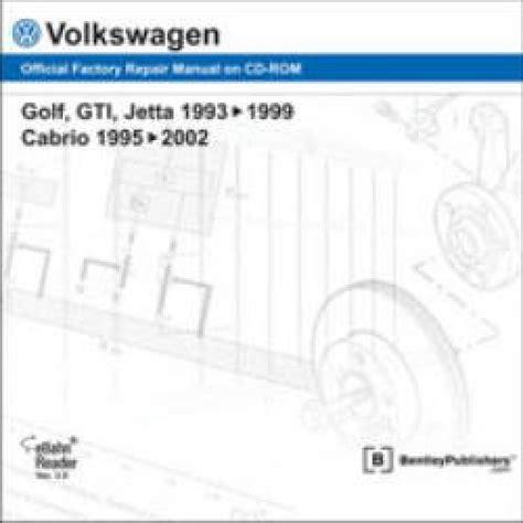 service manuals schematics 1995 volkswagen golf navigation system volkswagen golf gti jetta 1993 1999 cabrio 1995 2002 repair manual on cd rom