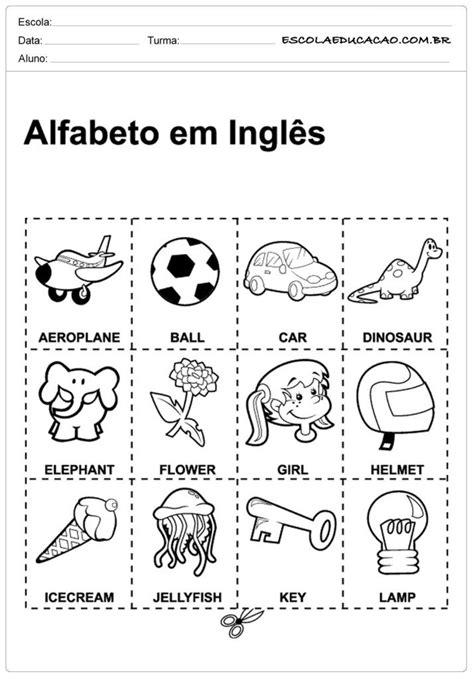 Atividades de Inglês para Educação Infantil   Alfabeto em