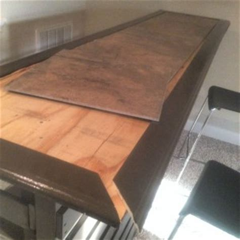 bar top trim how i built a diy indoor bar with discarded pallets for
