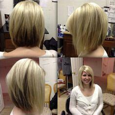 inverted bob haircut with finger position and angle candace cameron bure s short angled bob from all angles
