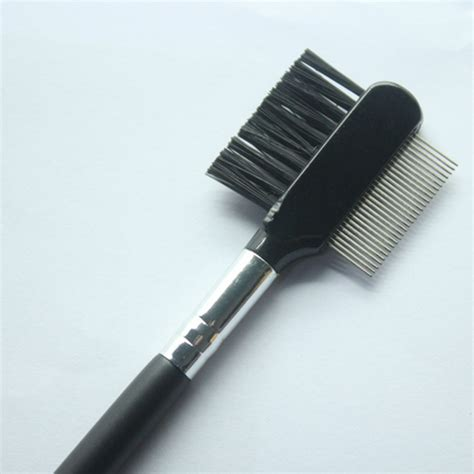 steel eyebrow eyelash dual comb extension brush metal comb