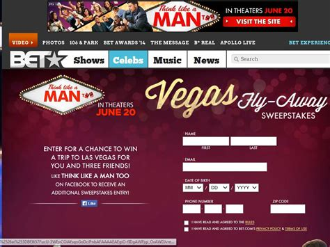 Bet Sweepstakes - bet think like a man too sweepstakes