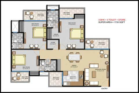 2 Car Garage Sq Ft by Huge Discount On 3 And 4 Bhk Residential Property In Noida
