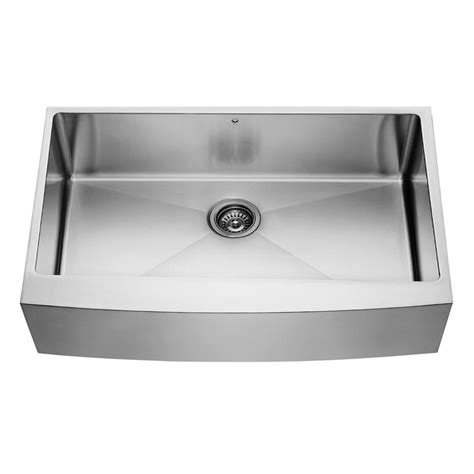 Single Bowl Stainless Steel Kitchen Sink Vigo Stainless Steel Farmhouse Single Bowl Kitchen Sink 36 Inch 16 The Home Depot Canada