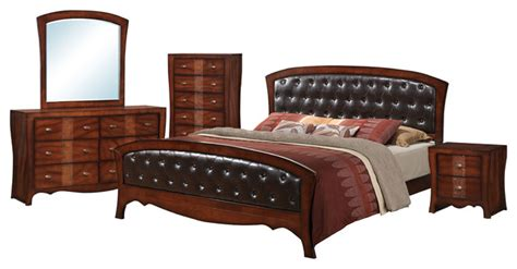 5 king bedroom set jansen king 5 set transitional bedroom