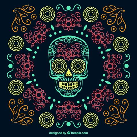 day of the dead background ornamental beautiful day of the dead background