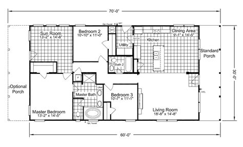 floorplan or floor plan the retreat 30603r manufactured home floor plan or modular