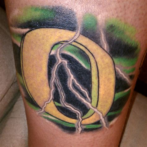 oregon tattoo oregon green ink duck