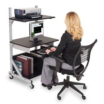 stand up or sit down computer desk stand up or sit down workstation bal 42551