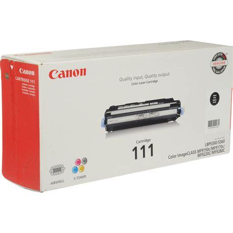 Toner Canon canon 111 black toner cartridge 1660b001 b h photo