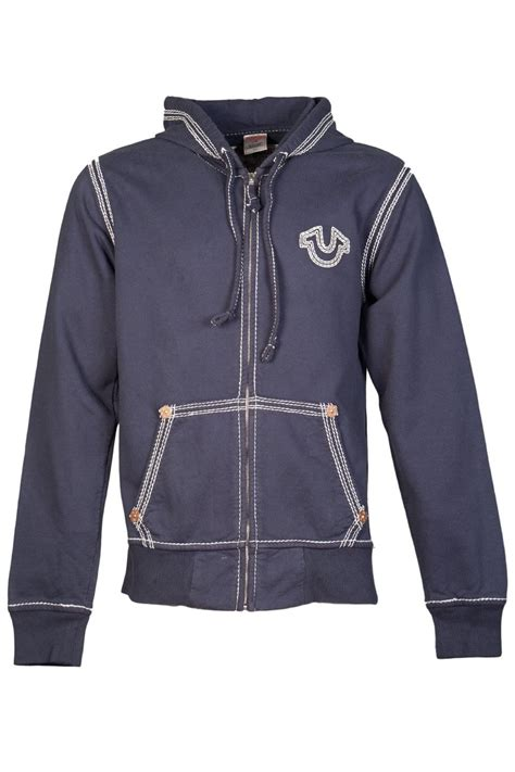 Hoodie Zipper Franky C3 true religion zip up hoodie in navy blue 1240000012 4101 true religion from clothing uk
