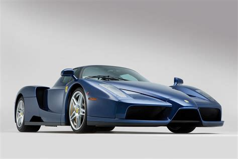 rare ferrari enzo rare blue ferrari enzo heading to auction in london